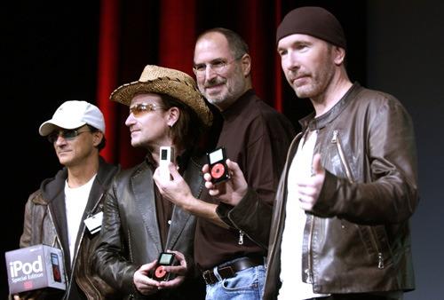 Jimmy Iovine, Bono, Steve Jobs and The Edge